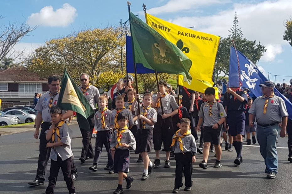Trinity Pakuranga attend an ANZAC Day ceremony